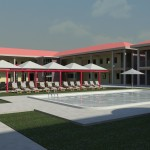 Guest House Swimming Pool Rendering